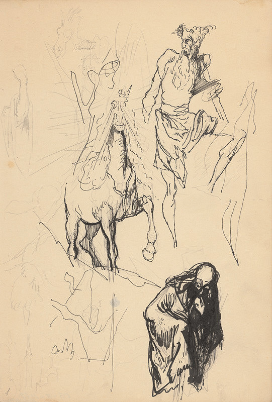 Ján Novák - Štúdia k ilustráciám II. č.28