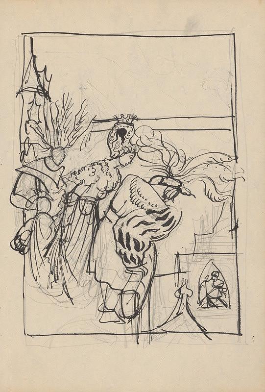Ján Novák - Štúdia k ilustráciám I. č.27