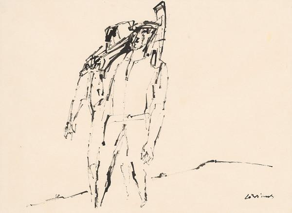 Július Lörincz – Kresba z cyklu Povstanie