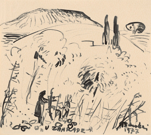 Béla Bacskai – V záhrade