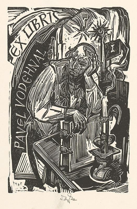 Jaroslav Vodrážka – Ex libris Pavel Vodehnal