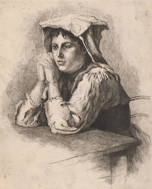 František Gyurkovits – Dievča pri stole