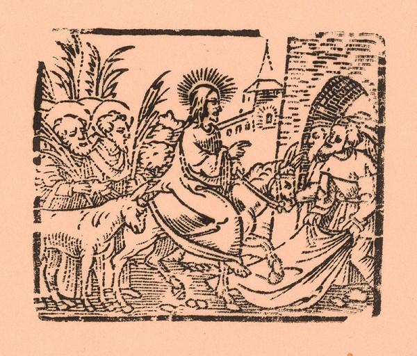 Nemecký grafik z 1. polovice 16. storočia - Príchod Krista do Jeruzaléma