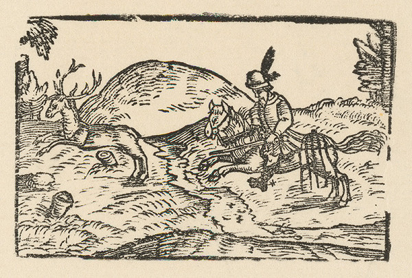 Nemecký grafik z 2. polovice 16. storočia – Lov na jeleňa