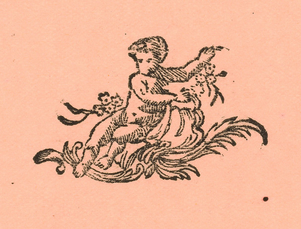 Moravský grafik zo začiatku 18. storočia – Koncovka s puttom
