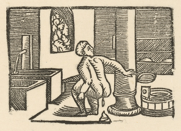 Nemecký grafik z 1. polovice 16. storočia - Enšpígl v kúpeli