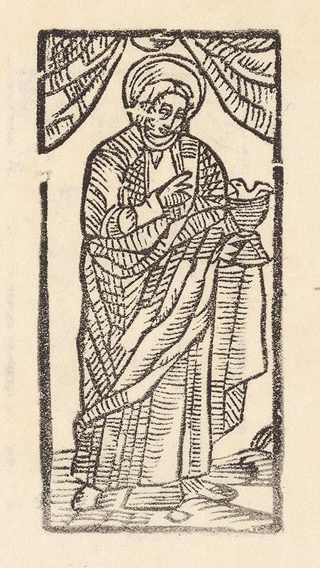 Moravský grafik z konca 16. storočia – Sv. Ján