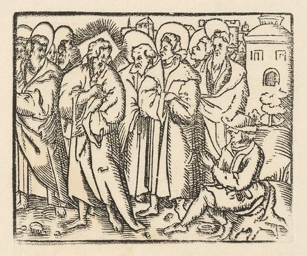 Nemecký grafik zo začiatku 17. storočia – Uzdravenie slepého