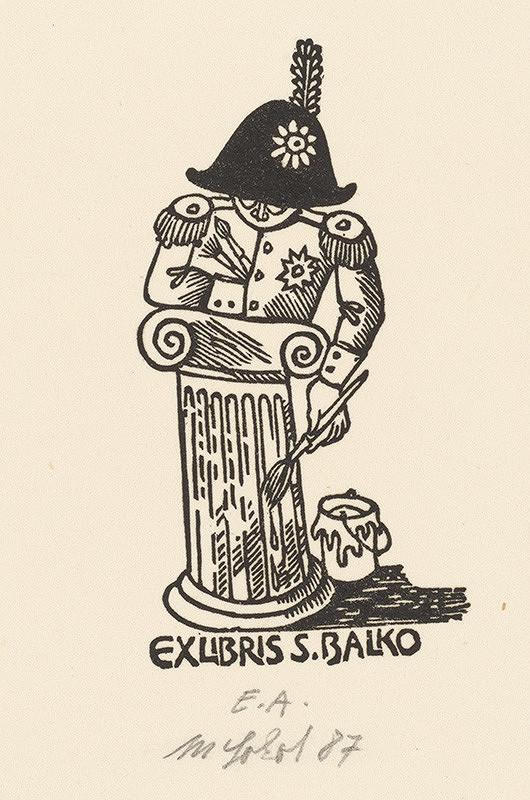 Milan Sokol - Ex libris S.Balka