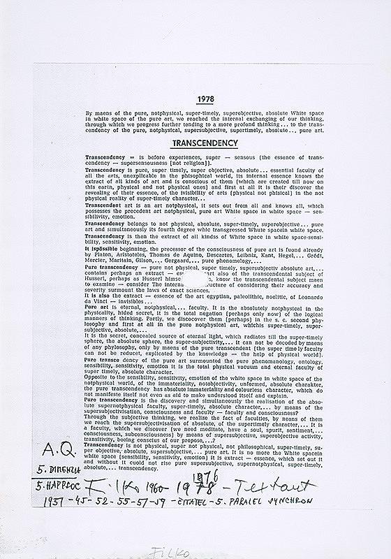 Stanislav Filko - A. Q. 5. DIMENZIA – 5. HAPPSOC – Textart (časť názvu)
