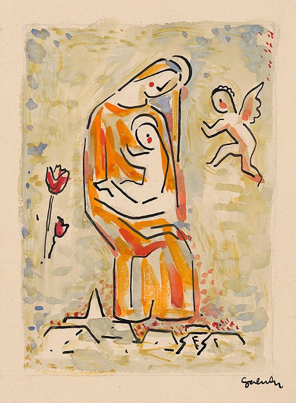 Mikuláš Galanda – Madona s anjelikom a tulipánom