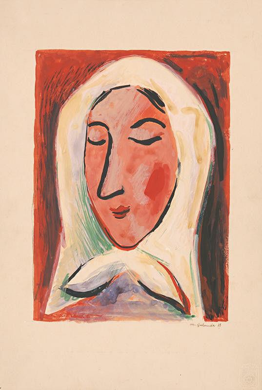 Mikuláš Galanda – Hlava ženy v šatke