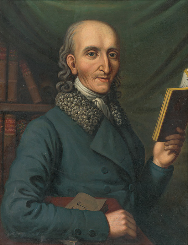 Jozef Mikloši – Podobizeň muža s knihou v ruke