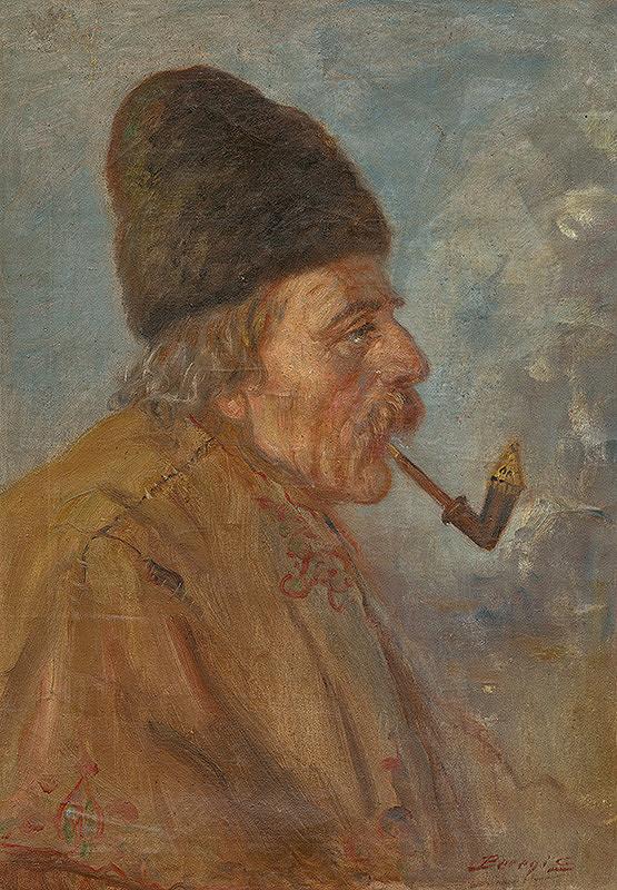 Samuel Beregi – Štúdia hlavy muža