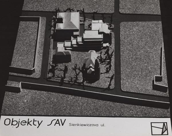 Rajmund Müller – Objekty SAV na Sienkiewiczovej ul. v Bratislave. Model.