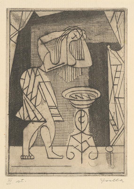 Ľudovít Fulla – Umývajúce sa dievča III.