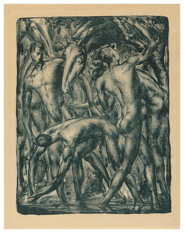 Eugen Krón – Men with Horse