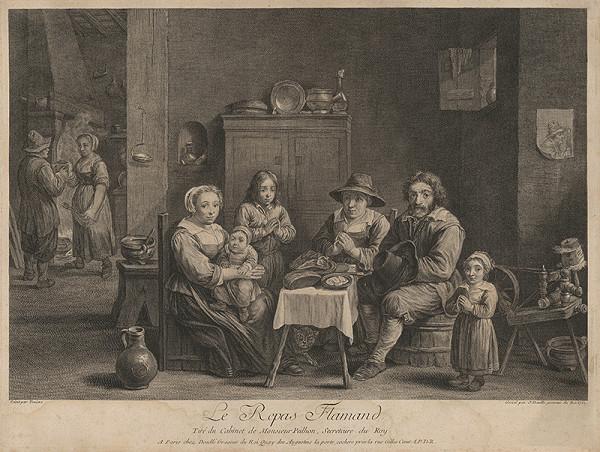 Jean Daullé, David Teniers – Flámska rodina