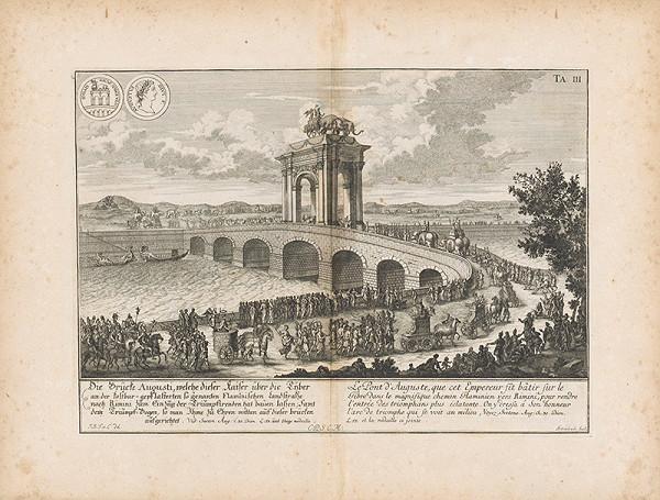 Johann Bernhard Fischer von Erlach, Johann Adam Delsenbach – Pohľad na Augustov most