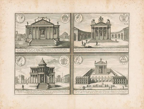 Johann Bernhard Fischer von Erlach, Johann Adam Delsenbach – Zobrazenie štyroch antických chrámov