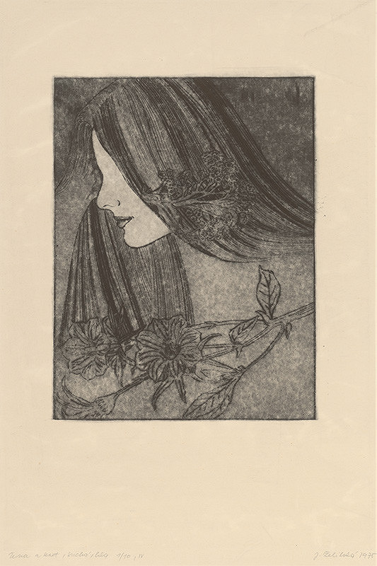 Jana Želibská – Woman and a Flower IV.