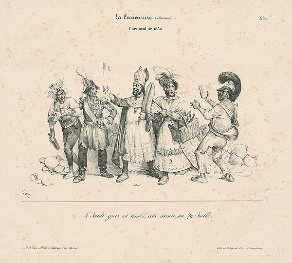 Victor Adam, Francúzsky karikaturista V.A. z 30. rokov 19. storočia – Karneval 1830