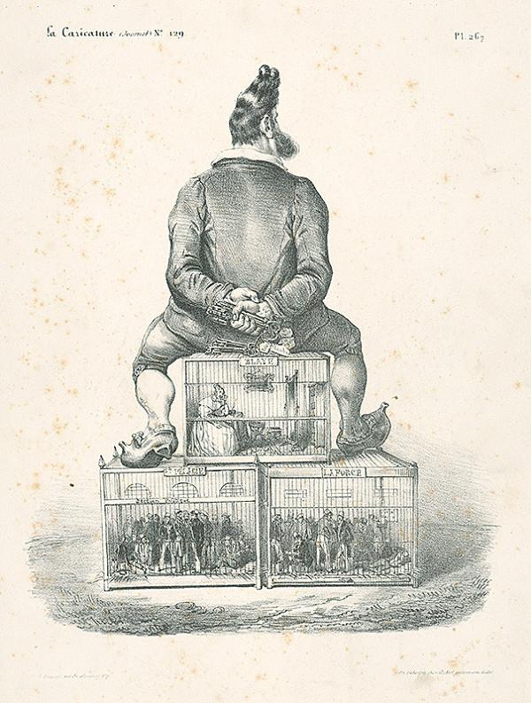 Auguste Desperet, Francúzsky karikaturista z 30. rokov 19. storočia – Tri slávne väznice