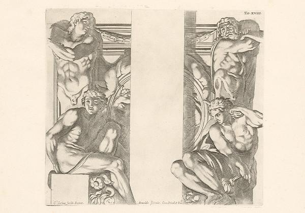 Carlo Cesio, Annibale Carracci – Atlanti,Tab.XVIII.