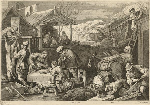 Jan van Troyen, David Teniers ml., Jacopo Bassano - Zima - štyri ročné obdobia