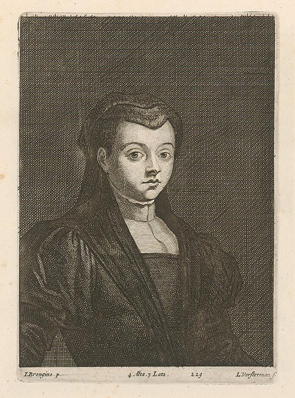 David Teniers ml., Lucas Vorsterman ml. - Portrét ženy - vdovy (?)