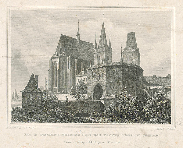 Karl Würbs, Emil Höfer – Kostol sv. Gotharda v Slaném