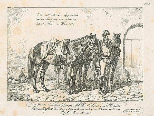 Johann Adam Klein – Vojak s koňmi