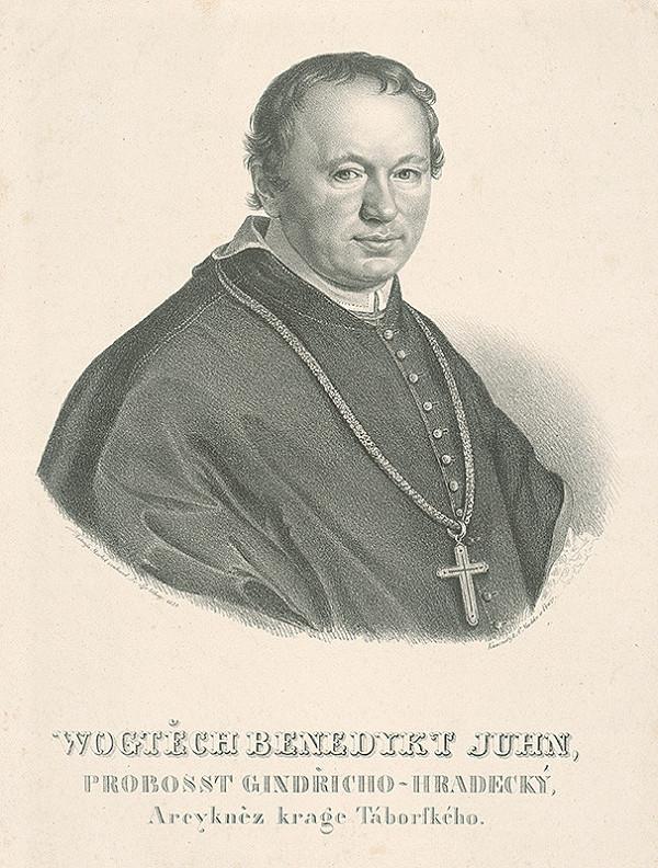 František Šír, Antonín Machek - Podobizeň Vojtěcha Benedikta Juhna, jindřichohradecký prepošt