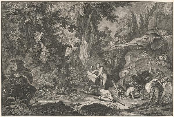 Johann Elias Ridinger - Stvorenie Evy