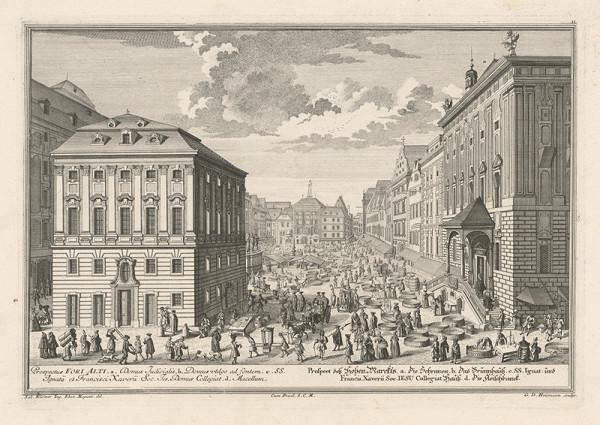 Salomon Kleiner, Georg Daniel Heumann - Pohľad na Vysoký trh vo Viedni