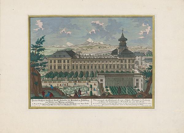 Franz Anton Danreiter, Johann August Corvinus – Zámok Mirabell v Salzburgu - južná strana