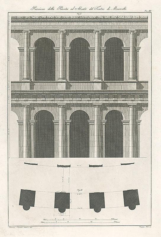 Vincenzo Feoli, Francesco Saponieri – Návrh na divadlo Marcello - priečelia