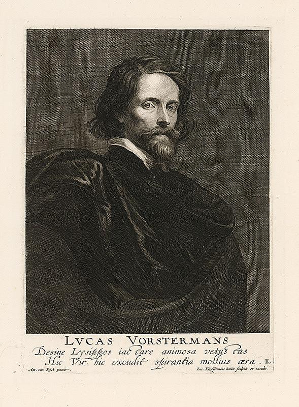 Anthony van Dyck, Lucas Vorsterman - Portrét Lucasa Vorstermana, antverpského grafika