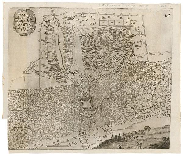 Cornelis Meyssens – Obliehanie a útok na pevnosť Kanizsa v roku 1664