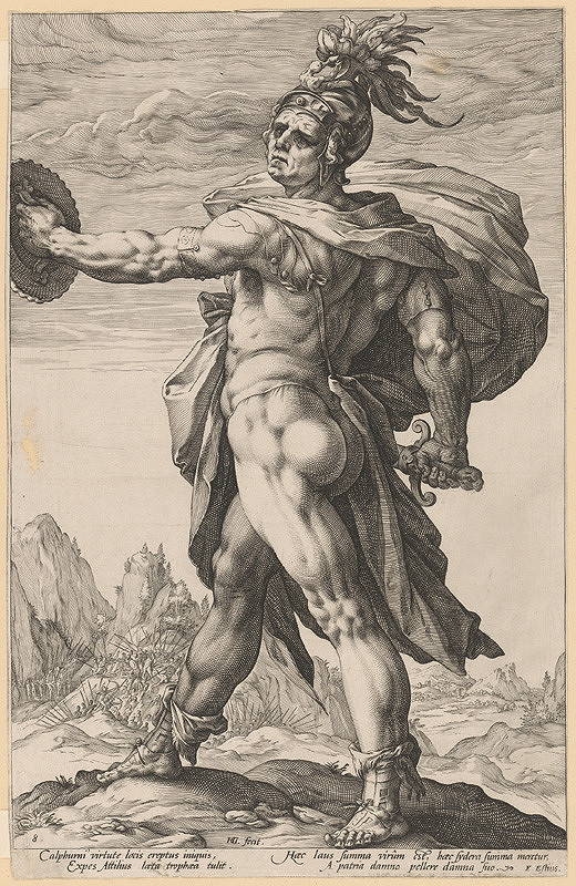 Hendrick Goltzius – Rímsky legionár pri Kalpurnskej bitke