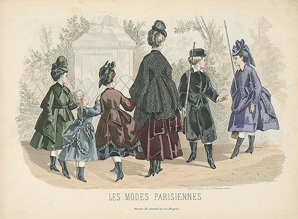 Atelier Lacouriere – List z módneho časopisu Les Modes Parisiennes. Návrhy šiat pre mládež