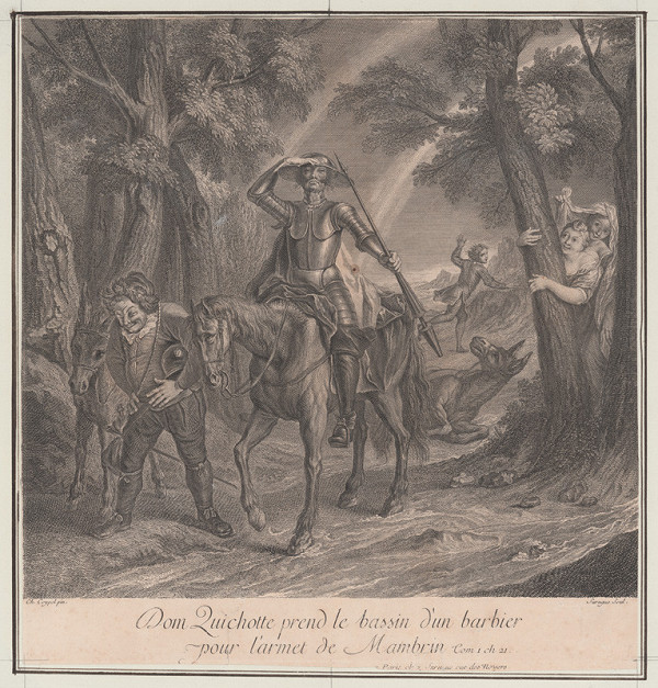 Pierre Louis Surugue, Charles-Antoine Coypel – Don Quijote na cestách