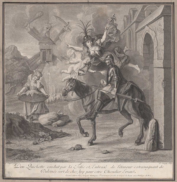 Pierre Louis Surugue, Charles-Antoine Coypel – Don Quijote vychádza z domova