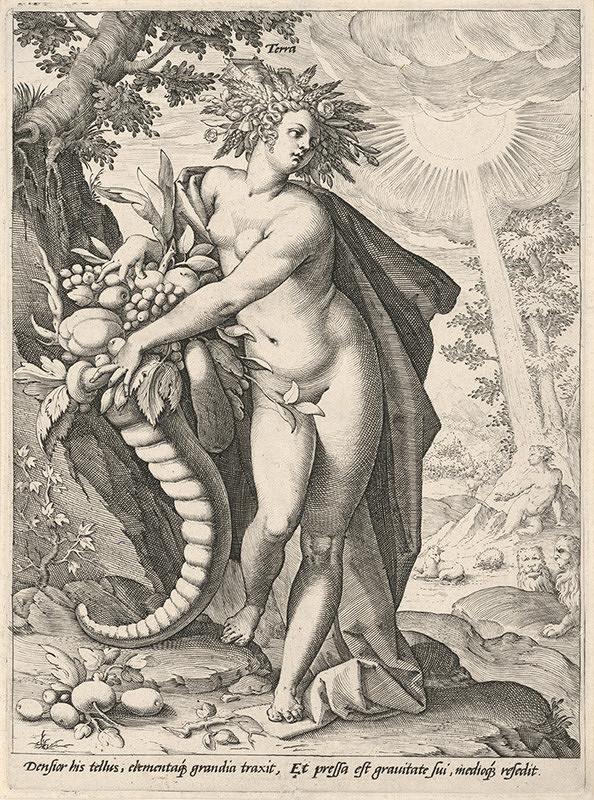Hendrick Goltzius, Neznámy grafik - Zem