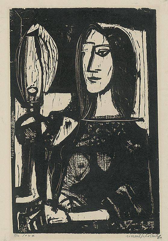 Vincent Hložník – Žena s lampou