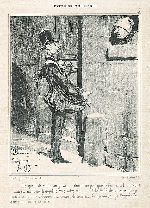 Honoré Daumier - Domovník