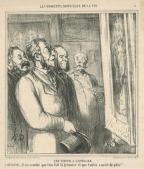 Honoré Daumier – Návšteva v ateliéri