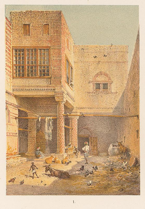 Karol Ľudovít Libay – Interiér tureckého domu v Quene