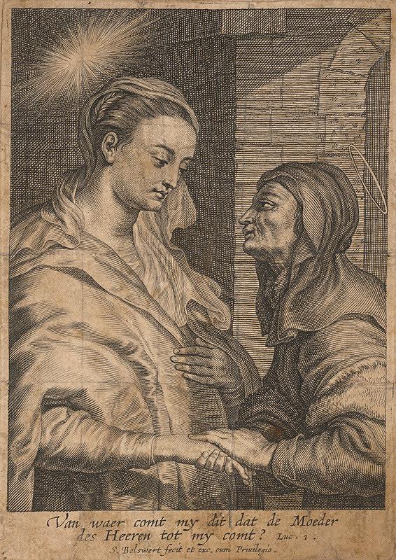 Schelte Bolswert - Navštívenie Panny Márie