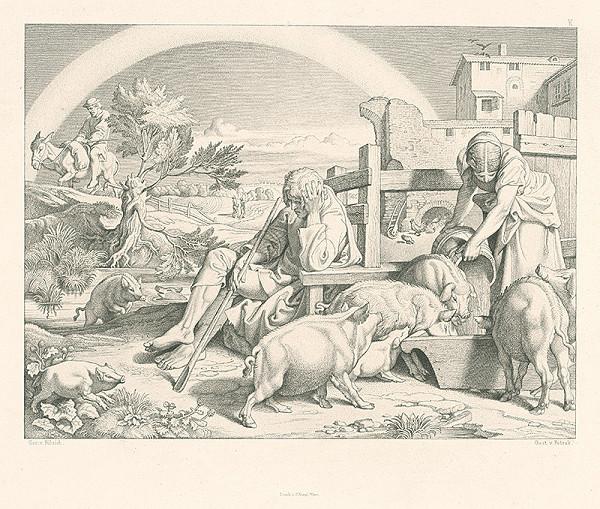 Alois Petrák, Joseph von Führich - Pastier svíň
